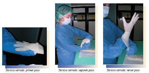imagen tecnica esteril dentro quirofano:
